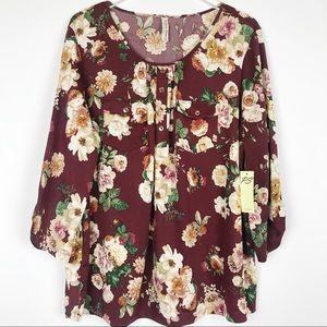 Perseption Floral Blouse ***Host Pick***
